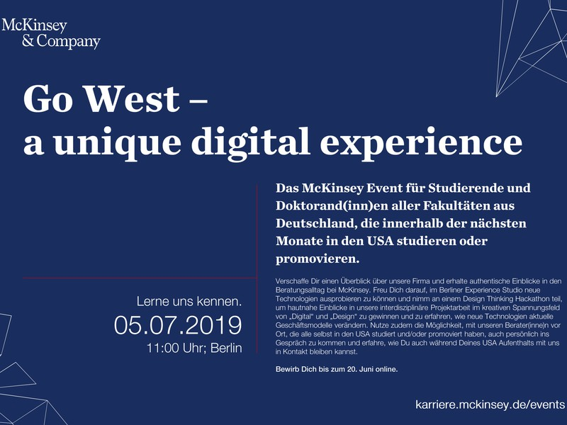 Go West – a unique digital experience