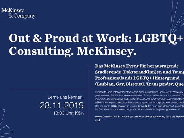 Out & Proud at Work: LGBTQ+. Consulting. McKinsey.