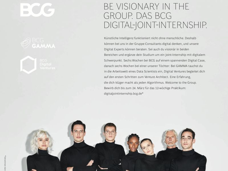 BE VISIONARY IN THE GROUP. DAS BCG DIGITAL-JOINT-INTERNSHIP